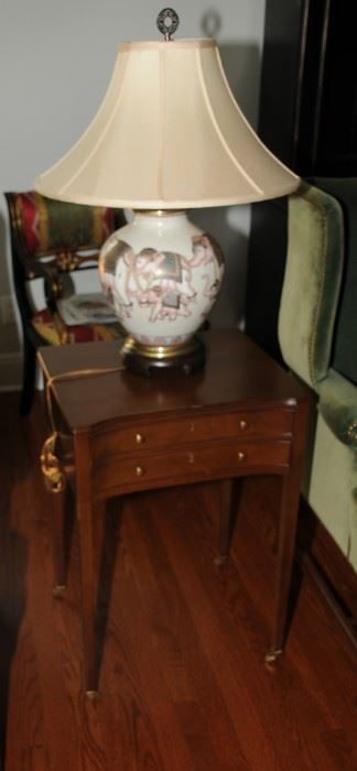 VINTAGE TWO DRAWER SIDE TABLE