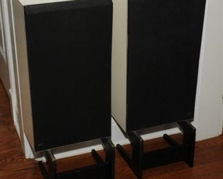 Excellent B & O Beovox S60 speakers and stands / White laminate finish from Denmark