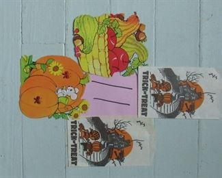 vintage fall/Halloween paper goods