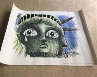 Liberty Mourns Print