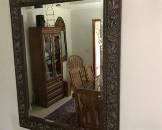 Beautifully framed beveled glass mirror