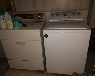 Kenmore dryer Whirlpool washer
