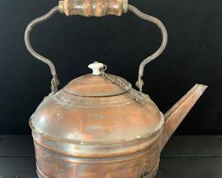 Antique Copper 'Tea Kettle'