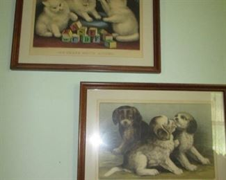 Currier & Ives puppies & kittens