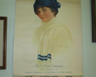 1918 Dietz lantern calendar
