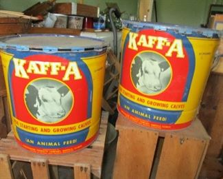 colorful cow tins