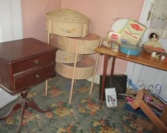 sewing stands & table