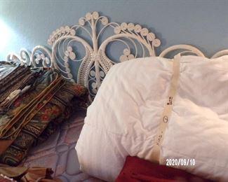 wicker headboard on king bed