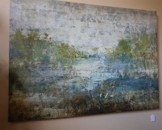 Large scale stretched canvas art