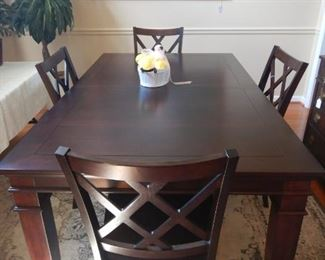 Another view of dining table and 4 chairs