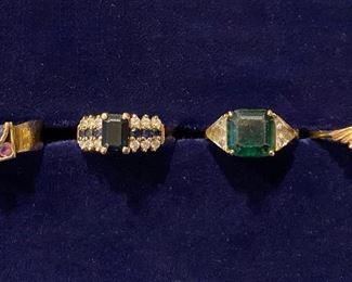 Absolutely stunning 14 karat gold rings pendants earrings and bracelets!!!
