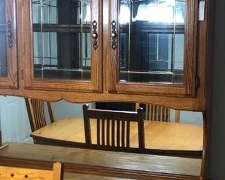 Amish Table & Hutch $1200