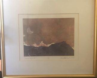 Series of six Japanese-style prints by Bainbridge artist.