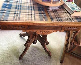 Antique Oak East Lake Table