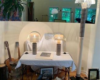 Italian Mario Boda Shogun Table Lamps