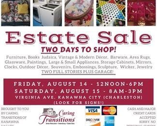 Carson Estate Sale Facebook Post