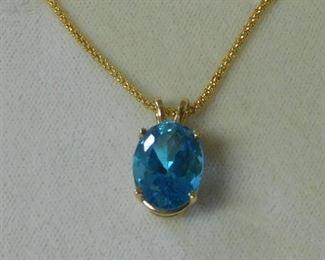 14 k Stone Necklace