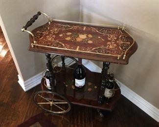 Italian inlay teacart