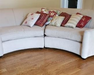 001 SemiCircular 2Pc Sofa