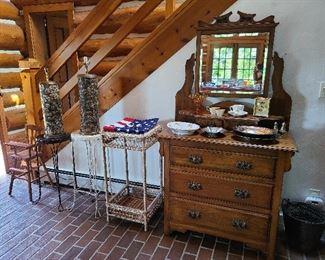 antique oak dresser and more