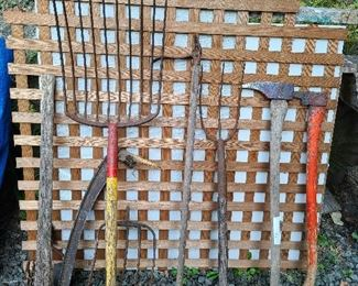 garden and logging tools