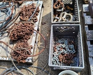 logging chains etc