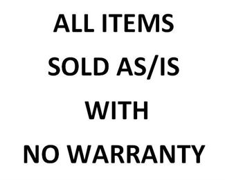 No Warranty sign