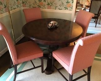 Hickory Chair Game Table and Chairs