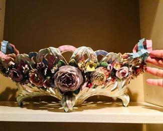 Meissen decorative bowl, as is.