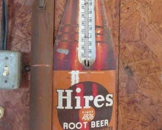 old tin thermometer