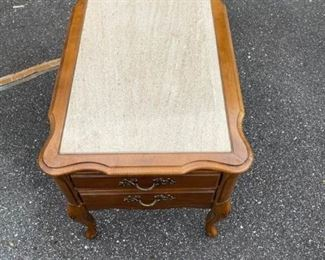 006 Marble Top Side Table