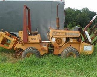1996 Case 360 Trencher/Backhoe(Side Boring Machine/Wisconsin 40HP/Running)