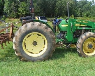 2002 John Deere 5205 Tractor with 5200 Front End Loader 4WD(1400 Hours)