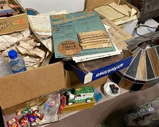 old paper items, and advertising