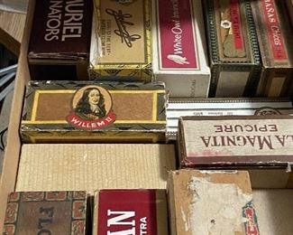 hundreds of cigar boxes about..