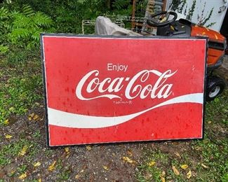 Large Coca Cole Metal Sign - Made by AM in lynchburg VA
