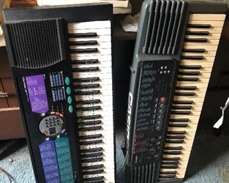 Casio and yamaha electric piano keyboards