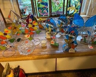 stained glass sun catcher - candle holders - lamps - and more - priced cheap