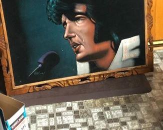 Elvis Velvet Painting