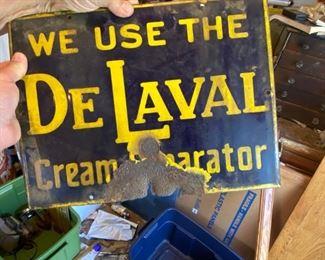 DE LAVAL CREAM SIGN