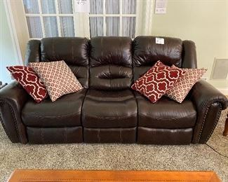 "Leather Power Recliner Couch  79""L x 34.5""W x 40""H"