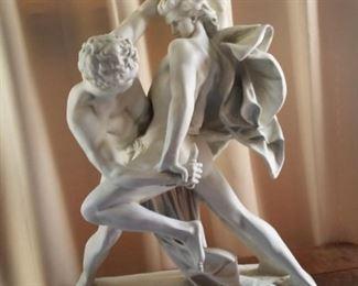 Grecian Battle Scene Statuary