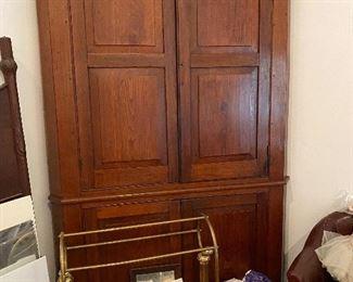 Antique Virginia Corner Cupboard - Starting Ask Is $2800