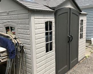 ONE YEAR OLD SHED - TWO DOORS - FRONT AND SIDE