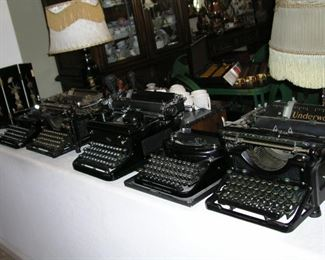 There are a total of nine beautiful vintage manual typewriters to choose from!