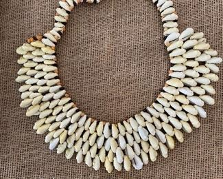 Unusual ladies shell collar necklace