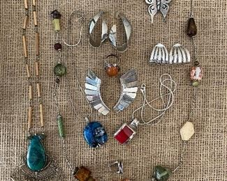 Misc. vintage sterling jewelry