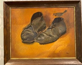 Original oil painting by La Jolla listed artist Elizabeth Riis