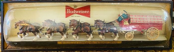 6 Foot Budweiser Clydesdale wall light