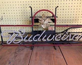Budweiser neon light with Anheuser Busch neon sign with Official A at the top